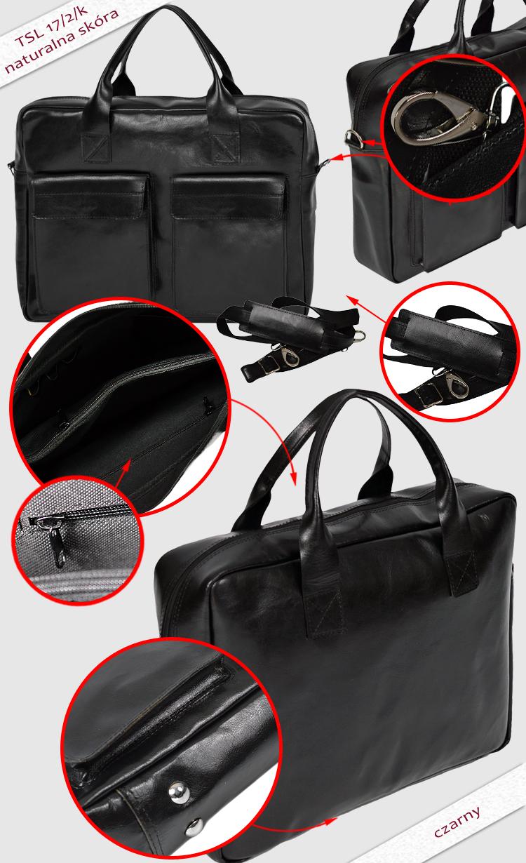 torba skórzana na laptop