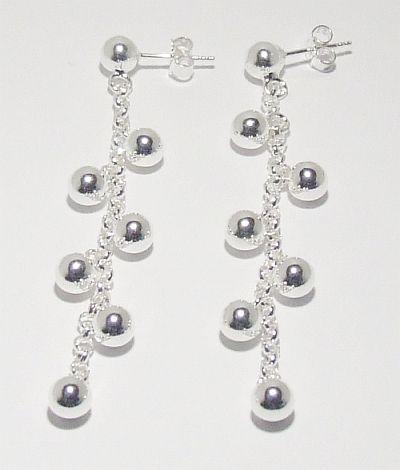 Biżuteria srebrna - kolczyki wzór TP71046