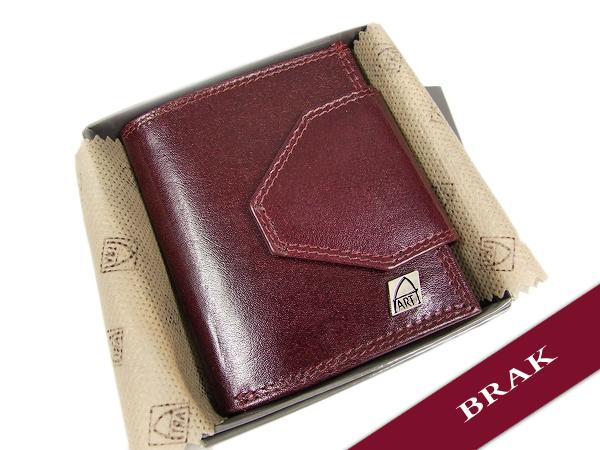 brązowy portfel damski